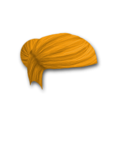 Female Hair #5 Orange