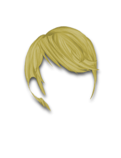 Female Hair #9 Golden Blonde